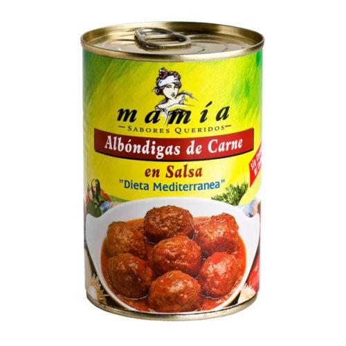 Albóndigas Carne Salsa Mamía