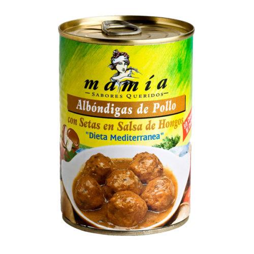 Albóndigas Pollo Setas Mamía