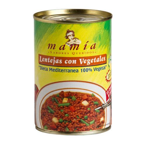 Dieta Mediterránea Lentejas Vegetales Mamía