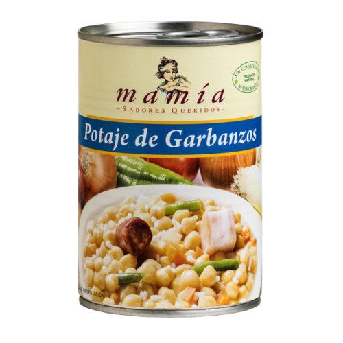 Dieta Mediterránea Potaje Garbanzos Mamía
