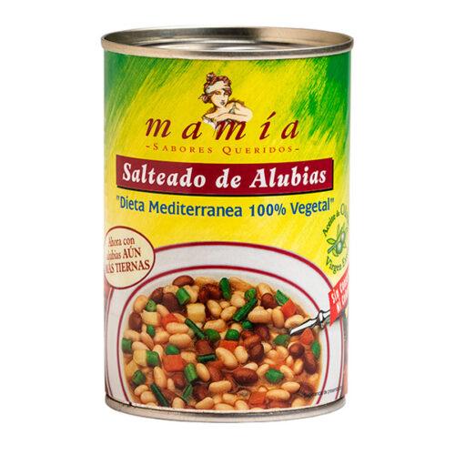 Dieta Mediterranea Salteado Alubias Mamia