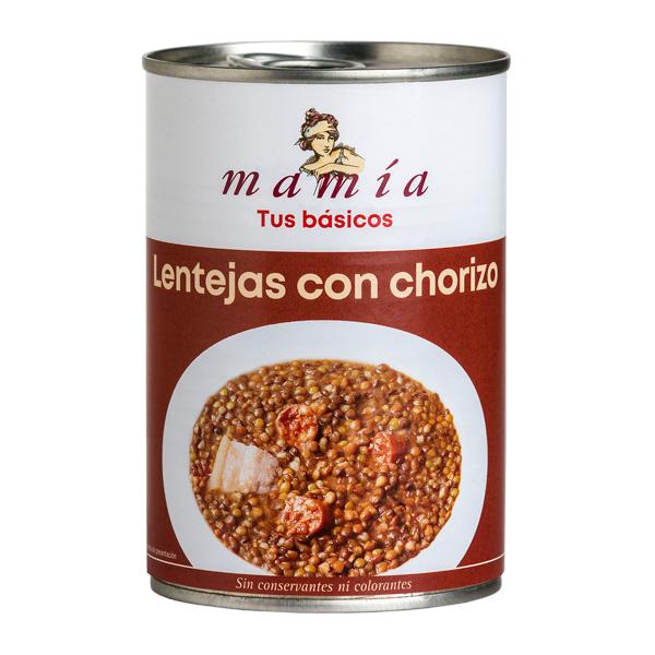 Legumbres Cocinadas Cocido Lentejas con Chorizo Mamia