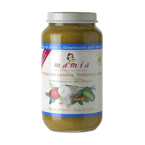 Merluza Gambas Dieta Crema Mamía